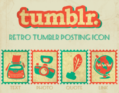 Retro Tumblr Icon Design