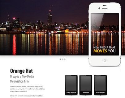 Orange Hat Group - Website Concept