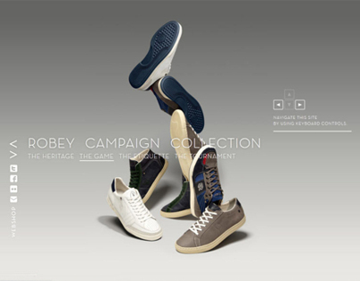 Robey Vintage FW11 campaign site + game