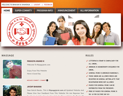 Student Union Website (for Dynamic)