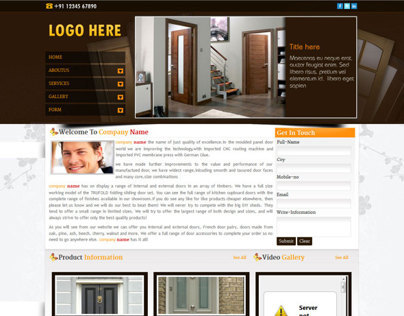 Door manufacturing company website (just design)