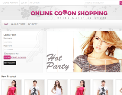 online cotton shopping (just design)