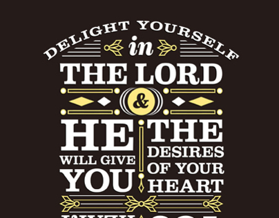 Psalm 37:4 - shirt design