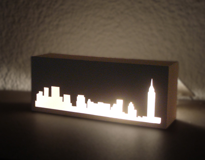 New York Skyline Lamp