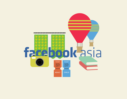 Facebook Asia - Infographic Illustration