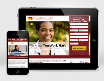 Gwynned-Mercy College Micro-site / Landing page design