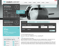 Karup Airport / re-designed CI and online profile