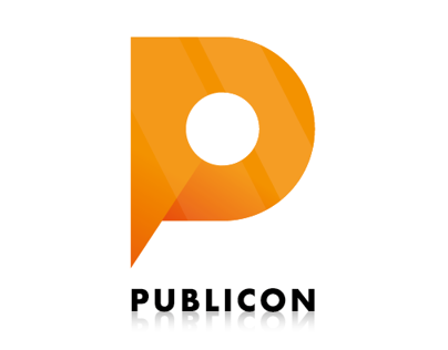 Publicon - Logo, step by step