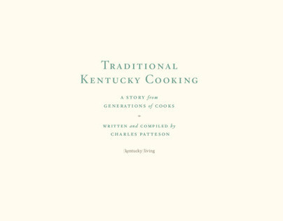Traditional Kentucky Cooking: Cook Book Design