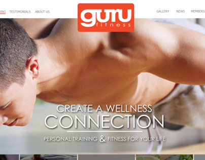 GURU Fitness Website Design