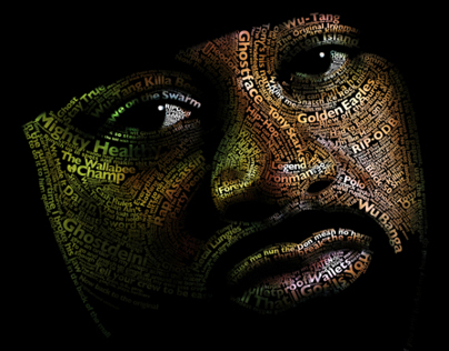 Ghostface Killah typographic portrait