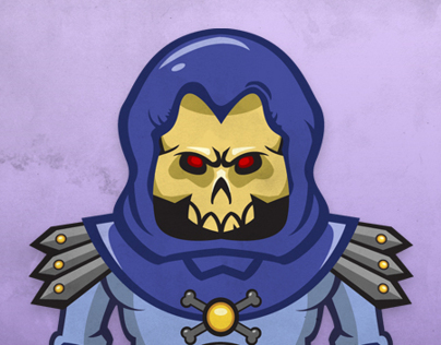 Skeletor vector illustration