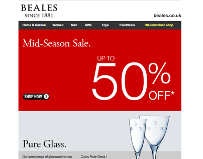 Email Marketing with Beales Department Stores