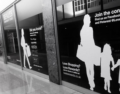 Beales Brand Awareness Store Window Decals