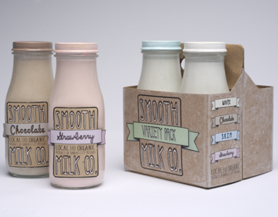 Smooth Milk Company | Bottle Labels and Packaging
