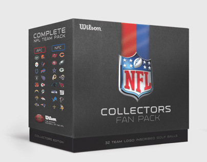 NFL Collectors Fan Pack, Wilson Golf Balls