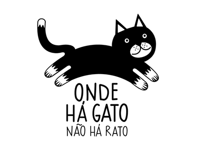 Aqui há gato/ Stray cats volunteer group logo