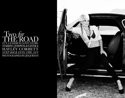 Two For The Road B&W Editorial
