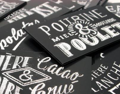 Boucherie Champfleuri / Print & Typography