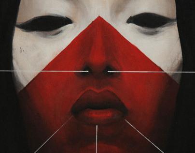 DARK and RED III acrylics canvas