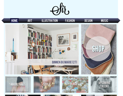 Work in progress: web design Sir Magazine