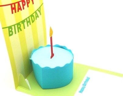 3D Pop-up Birthday Cake