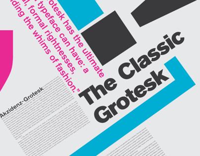 Akzidnez-Grotesk Font Study