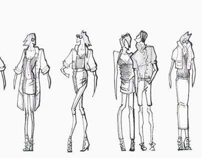 Diesels Project - fashion illustration