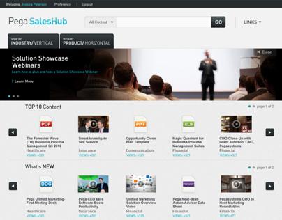 Pega SalesHub User Interface