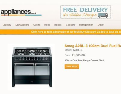 Appliances UK eCommerce website