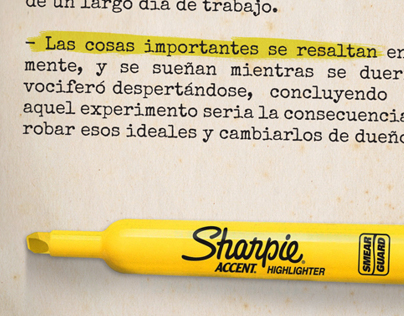 Sharpie Accent Highlighter.