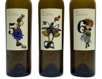 """Wine labels for """"The Madeira  Collection"""""""