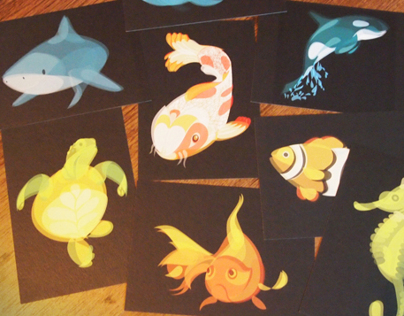 Fluid Animals Postcard Sets