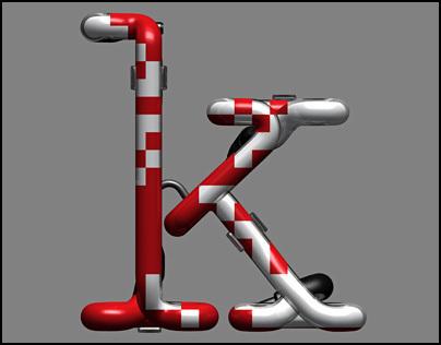 Tubism : 3D Neon Typography