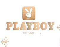 Playboy Christmas Card