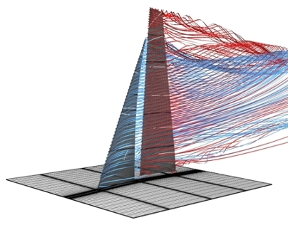 Flow simulation of Americas Cup AC33 upwind sails