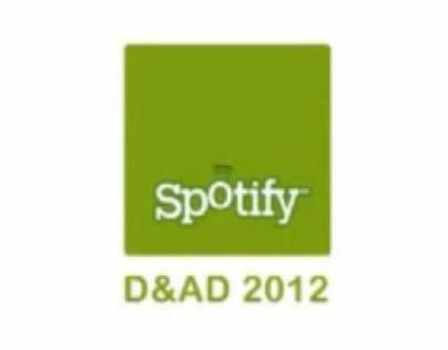 D&AD 2012 Spotify entry