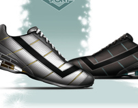 Grid shock shoes
