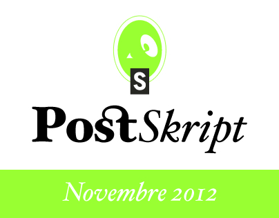 Post Skript - n° 4 la newsletter di Novembre 2012