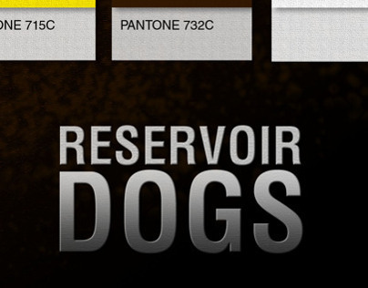 Reservoir Dog / Pantone Movie Poster