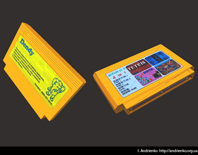 Dendy (NES Famicom) cartridge model