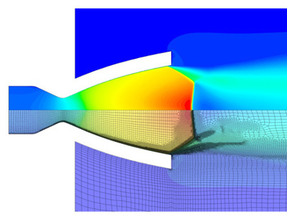 Adaptive mesh refinement in supersonic nozzle flow
