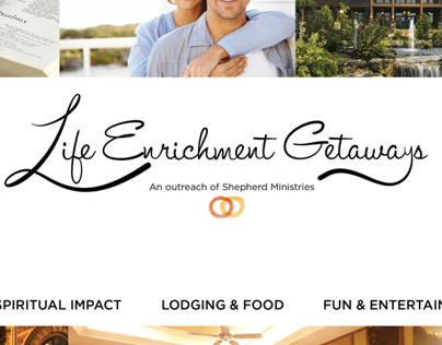 Life Enrichment Getaways branding