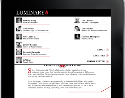 Luminary iPad App.