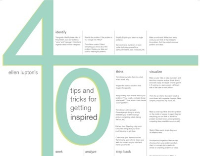 Ellen Luptons 40 tips and tricks for getting inspired