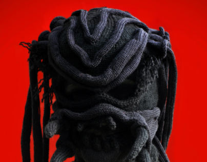 Custom knit mask - Predator version