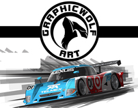 Motorsports Illustrations