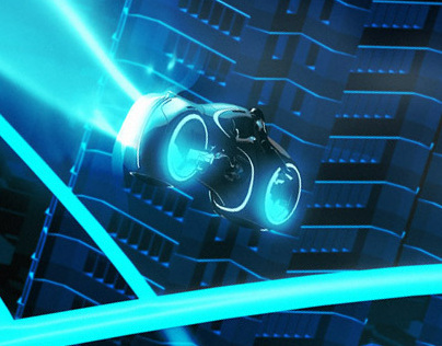 Tron legacy - big city panorama