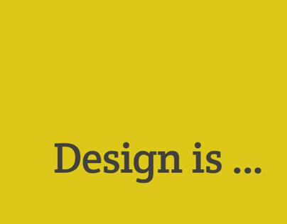 A Design is Essay - Breakdown