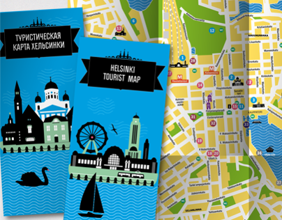 Tourist map of Helsinki